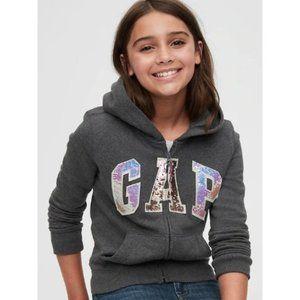 Gap Kids Grey Flippy Sequin Hoodie